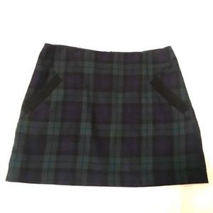 Top Shop Mini Plaid Green Skirt